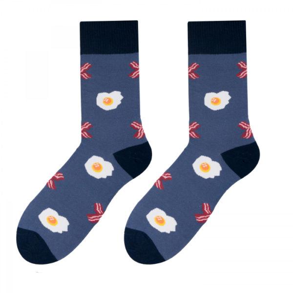 śmieszne skarpety z jajkiem i bekonem