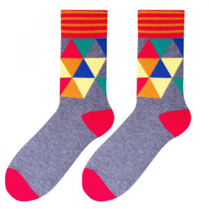 męskie skarpetki w kolorowe wzory